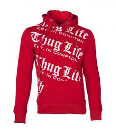 Thug Life Hoodie Red