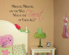 Mirror Mirror Fairest of All Wall Decals