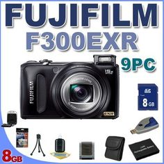 Fujifilm FinePix F300EXR Digital Point and Shoot Camera (Black) BigVALUEInc 9PC Saver Bundle! by Fuji. $252.09. This Kit Includes: 1- Fujifilm FinePix F300EXR Digital Point and Shoot Camera (Black) - Brand New USA w/ Full Manufacturer's Accessories 1- 8GB SD Memory Card (Dont Miss a Memory!) 1- SD Memory Card Reader (Download Images Quicker!) 1- Klic-7004 Extended Long-Life Lithium Battery (Not Original FujiFilm) (Shoot Longer and Stronger!) 1- Rapid Charger 1-...