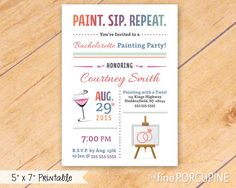 30th birthday invitation girls night out invitation paint and sip wine and painting party invites printable by thefineporcupine stopboris Images