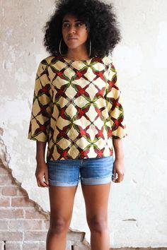Top impression africaine - la Blouse Maj par ALeapOfStyle sur Etsy https://www.etsy.com/fr/listing/209531190/top-impression-africaine-la-blouse-maj