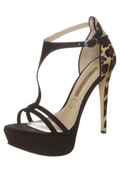 High heeled sandals - nobuck black