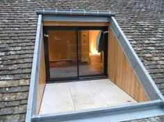 Image result for modern gable roof with dormer balcony