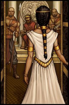 Queen Esther (Hadassah) was a Jewish orphan raised by her uncle Mordecai. She was brought to King Ahasuerus' palace as part of his harem. She found favor with the King & he married her. She found out that the Jewish people were going to be killed so she risked her life to save them by going before the King without being summoned. Esther 2