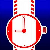 Illustration Of A Red Colour Wristwatch