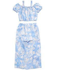 70a28bf6ef8a Crystal Doll 2-Pc. Printed Maxi-Overlay Shorts Dress