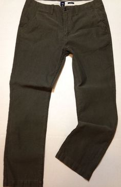 GAP Slim Fit Tailored Casual Pants 36 x 32 Flat Front Laurel Green NEW #GAP #SlimFitFlatFront