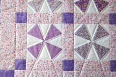 Pink and purple come together to make a pretty spring runner!