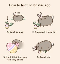 How to hunt an Easter egg [animated] | Pusheen the Cat ~ Easter 2016