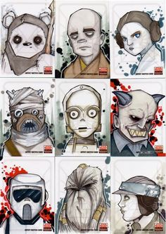 Ilustrações do Star Wars por Uminga