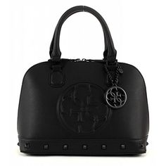 GUESS Womens Korry Small Dome Satchel Black Satchel -- Check out this great product.
