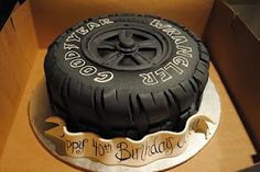 whether a mural, marriage or a marvelous cake. Cakes For Men, Just Cakes, Cakes And More, Gorgeous Cakes, Amazing Cakes, Tire Cake, 40th Bday Ideas, Race Car Cakes, Motorcycle Cake