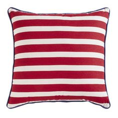 Glory Patriotic Pillow Cover | Three different looks, all with a distinctly Americana style. Choose your favorite to add subtle patriotic flair, or group together for a celebratory feel befitting the Fourth of July. Material: Cotton duck