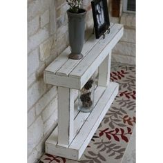 Items similar to Pedestal Console on Etsy Wood Projects That Sell, Reclaimed Wood Projects, Diy Pallet Projects, Woodworking Projects Diy, Woodworking Furniture, Wood Furniture, Palette Projects, Fine Woodworking, Wood Pedestal