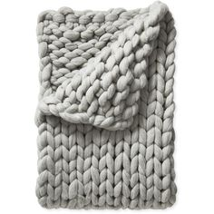Serena & Lily Henley Wool Throw (€500) ❤ liked on Polyvore featuring home, bed & bath, bedding, blankets, fillers, chunky blanket, chunky throw, handmade blankets, serena lily bedding and wool throw blanket