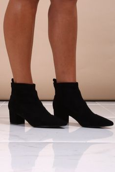 5f1dc70a247 Celia Black Block Heel Ankle Boots. Virgo Boutique Fashion · Women s  Fashion Shoes