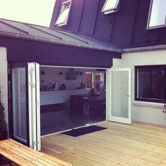 En esta casa la terraza está integrada a la cocina #estilonordico #casanórdica
