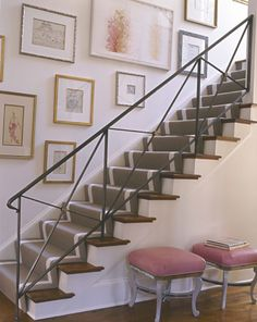 Painted Risers, Polished Treads  SUZANNE KASLER | Mark D. Sikes: Chic People, Glamorous Places, Stylish Things