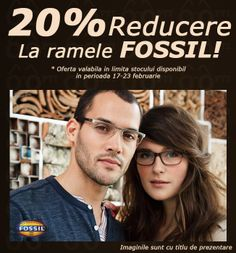 Promoția Fossil continuă! Ai și această săptămână 20% reducere la ramele Fossil. Nu rata această ocazie!