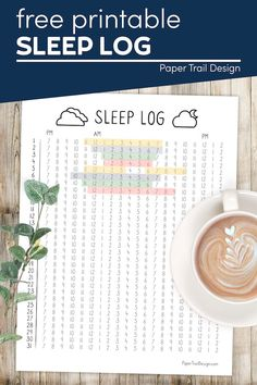 Print this month long sleep log to help you visualize your sleep goals and possibly find patters that are keeping you from getting a good night of sleep. Free Printable Calendar Templates, Printable Planner Pages, Printable Crafts, Printables, Easy Diy Crafts, Diy Craft Projects, Fun Crafts, Tracker Free, Summer Crafts For Kids