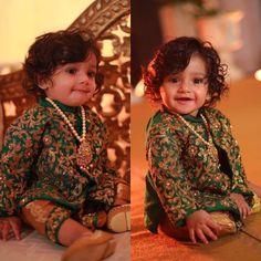 Mom And Baby Dresses, Baby Boy Dress, Kids Z, Cute Kids, Cute Girl Outfits, Baby Boy Outfits, Bridal Silk Saree, Silk Sarees, Cradle Ceremony