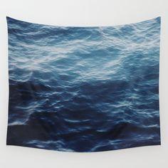 ocean blue Wall Tapestry