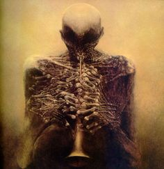 This is pretty much the best artist ever, too bad he died.  credit: Zdzislaw Beksinski