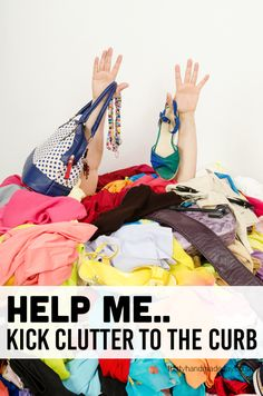 Help me kick clutter to the curb in the new year! Let's get organized in 2015.