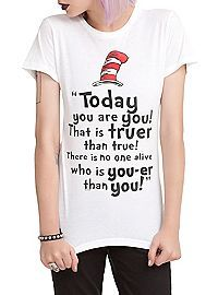 HOTTOPIC.COM - Dr. Seuss Today You Are You Girls T-Shirt