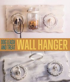 How To Make a Shabby Chic Dog Leash and Treat Wall Hanger