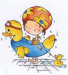 Dds3348 Don & Daisy - Swimming Daisy