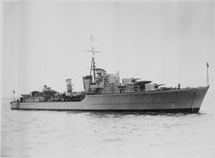 HMS Somali(F33) a Tribal class Destroyer built Swan Hunter at Tyne & Wear & completed 07/12/38. 03/09/39 captured German freighter Hannah Boge, the RN's first prize of the war. 15/05/40 damaged by bombing en route to Harstad. On 23/10/40 took a share in sinking weather ship WBS 5 Adolf Vinnen off Stadlandet. 20/09/42 was torpedoed by U-703 whilst escorting Arctic convoy QP 14. Taken under tow her back broke following day& she sank taking 67 men with her.