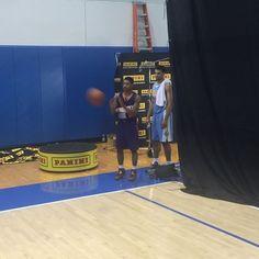 @paniniamerica #paninidunk #panininbarookie Tyler and Jamal at NBA rookie camp