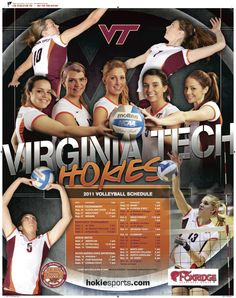 2011 Virginia Tech Volleyball Poster