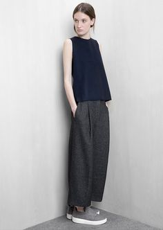 Fall = baggy trousers. // Mango Wool-Blend Culottes