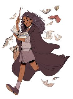 The Idea Of A Black Hermione Isn't New To The 'Harry Potter' Fandom, If You've Been Paying Attention Bustle Fanart Harry Potter, Arte Do Harry Potter, Yer A Wizard Harry, Harry Potter Fandom, Ravenclaw, Character Inspiration, Character Design, Desenhos Harry Potter, Up Book