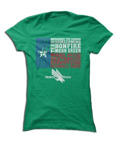 University Of North Texas Official Apparel - this licensed gear is the perfect clothing for fans. Makes a fun gift!