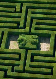 Green Grün Verde Grøn Groen 緑 Emerald Colour Texture Style Form Labyrinth Topiary Garden, Garden Art, Boxwood Topiary, Formal Gardens, Outdoor Gardens, Amazing Gardens, Beautiful Gardens, Beautiful Gorgeous, Landscape Architecture