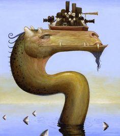 Painting of Bill Carman