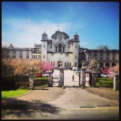 Cardiff University Main Building in the sunshine