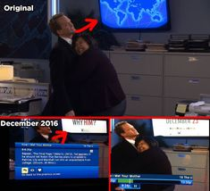 """Sometimes How I Met Your Mother injects current-day ads into the background of old episodes — for example, this episode from December 2012 advertising the 2016 film Why Him? 21 Tiny Little Things You Never Noticed In """"How I Met Your Mother"""" White Russian, How I Met Your Mother, Robin Olds, Ted And Robin, Old Shows, Himym, I Meet You, Series Movies, You Never"""