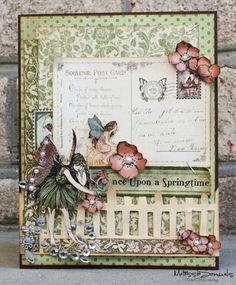 Take a special card or just one I like and frame and make it beautiful for a special place at home or a special person!