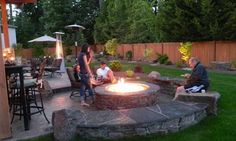 Exterior: Delightful Fire Pit Ideas Deck Also Outdoor Fire Pit Gas And Wood  From 5 Tips In Brainstorming Your Backyard Fire Pit Ideas