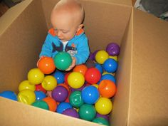Infant Ball Pit - Sometimes, it is just so darn easy!