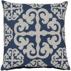 Surya Decorative Bank 18-inch Poly or Down Filled Pillow