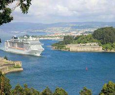 Entrada puerto de Ferrol