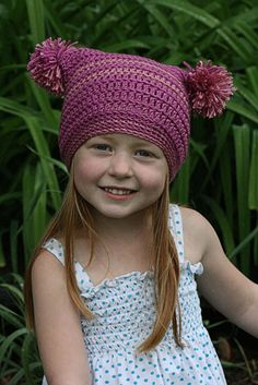 Pattern. Pretty in Pink / Vallie's Kids  Her patterns are all terrific. I love this cap.