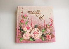 Embroidered  Photo album pink  Wedding photo album by Indrasideas, $195.00