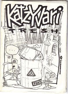 Cover Katzyvari n.4 (Tresh)  1994 Immagine di Otto Kin
