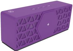 tec+ Geo Compact Portable Rechargeable Wireless Bluetooth Speaker Compatible With Android/Ios Smartphones And Tablet - Purple. Wired or wireless connectivity. Built-in rechargeable battery with up to 10 hours play time. 15 Watts of powerful sound. Easily portable with a sturdy design. Easy to use track controls.
